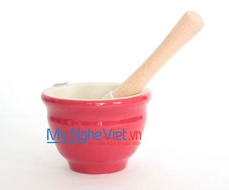 Cối giã loại B Mỹ Nghệ Việt MNV-MPB-0 size 0 (Đỏ)