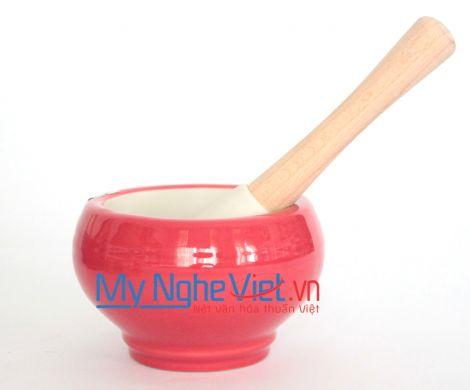 Cối giã loại C Mỹ Nghệ Việt MNV-MPC-0 size 0 (Đỏ)