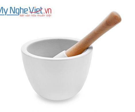 Cối giã loại A Mỹ Nghệ Việt MNV-MPA-2 size 2 (Trắng)
