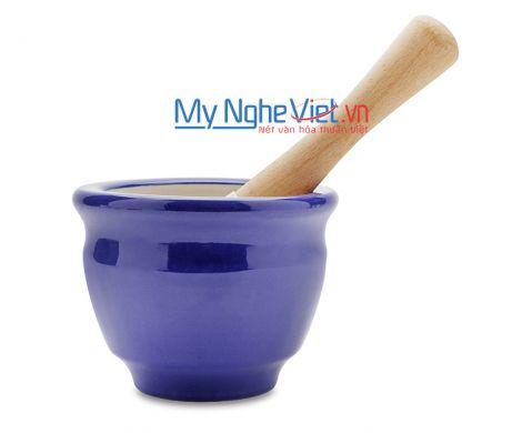 Cối giã loại D Mỹ Nghệ Việt MNV-MPD-3 size 3 (Xanh tím than)