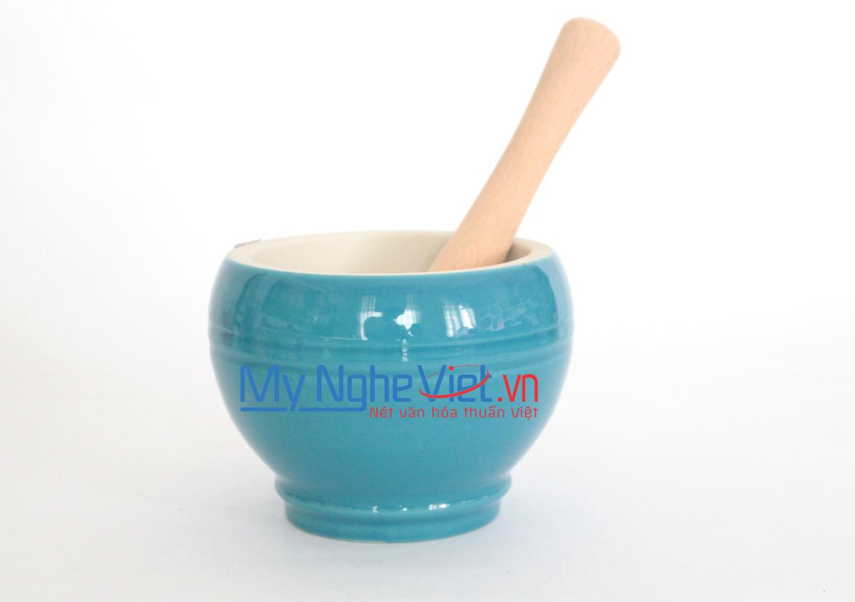 Cối giã loại C Mỹ Nghệ Việt MNV-MPC-2 size 2 (Xanh ngọc)