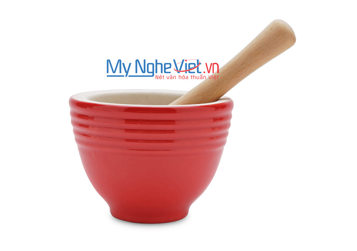 Cối giã loại B Mỹ Nghệ Việt MNV-MPB-2 size 2 (Đỏ)