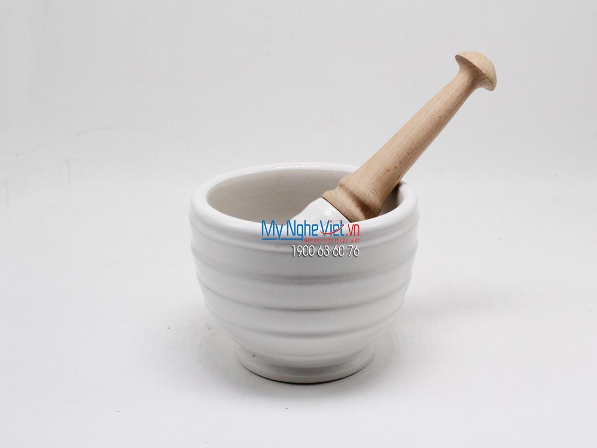 Cối giã Mỹ Nghệ Việt MNV-MP3 (trắng)